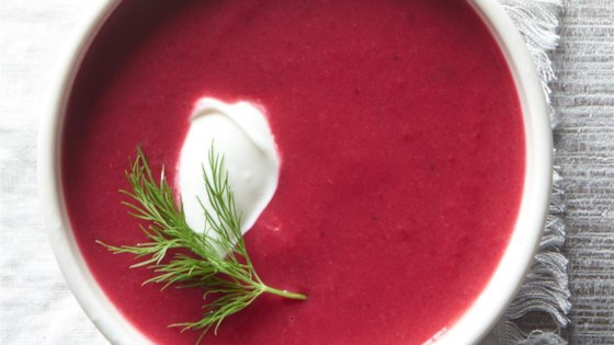 Roasted Beet and Potato Soup