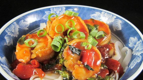 Photo of Shrimp Stir Fry with Bok Choy, Diced Tomatoes, and Rice Noodles by Deb C