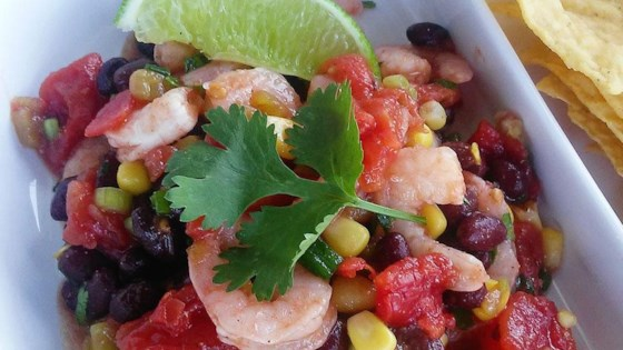 Photo of Black Bean, Corn, Tomato, and Shrimp Salad by Tammy Lynn