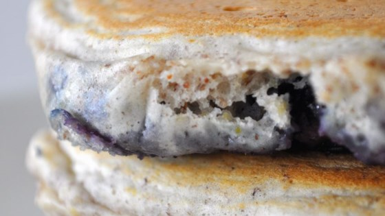 Photo of Blueberry Flax Pancakes by Freckles