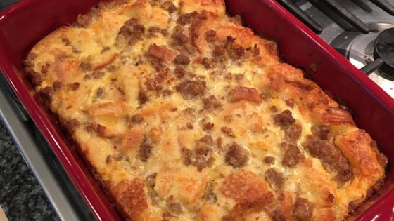 Photo of Christmas Breakfast Sausage Casserole by M.K. Meredith