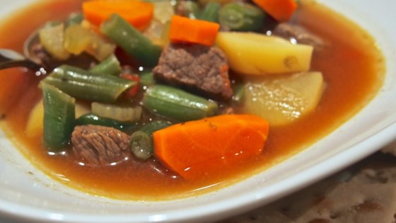 Photo of Dutch Oven Vegetable Beef Soup by Rose