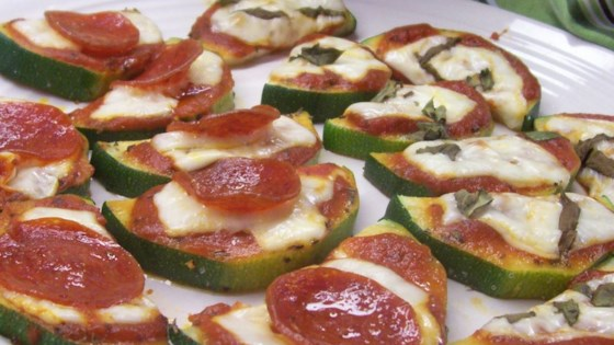 Photo of Grilled Zucchini Pizza by Kit