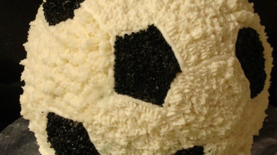 Photo of Soccer Ball Cake by Tracy