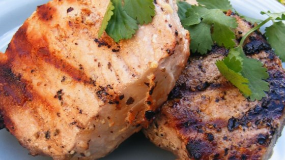 Photo of Grilled Lemon Herb Pork Chops by DOREENBUCH