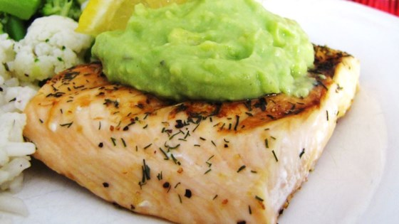 Photo of Grilled Salmon with Avocado Dip by Carolin