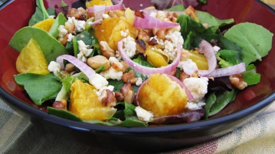 Photo of Orange, Walnut, Gorgonzola and Mixed Greens Salad with Fresh Citrus Vinaigrette by FAITHFUL96