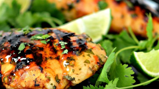 Photo of Grilled Lime Cilantro Chicken with Sweet Chili Sauce by bd.weld