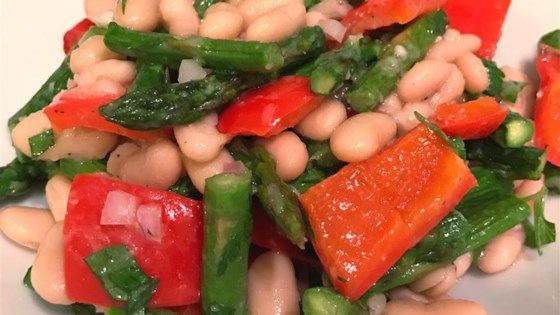 Photo of Fresh Asparagus and White Bean Salad by honeysage.com