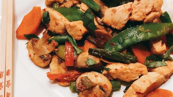 NP's Spicy Thai Basil Chicken and Veggies