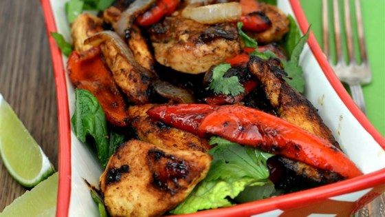 Photo of Grilled Chicken Fajita Salad by Baking Nana