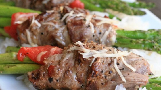 Photo of Grilled Asparagus Steak Bundles by France C.
