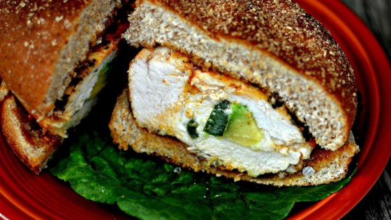 Spicy Grilled Stuffed Chicken Breast Sandwich Recipe