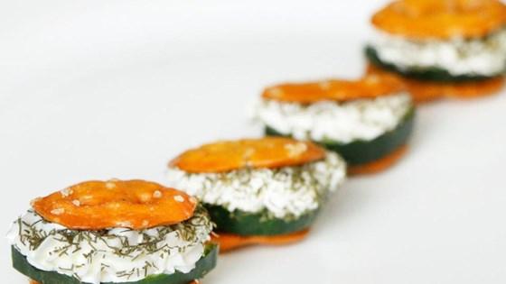 Photo of Cucumber Tea Sandwiches by Snack Factory® Pretzel Crisps®