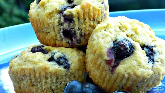 Photo of Melt-In-Your-Mouth Blueberry Muffins by MessiaenTheKitchen