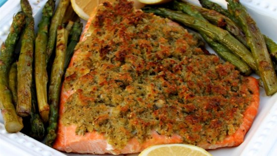 Photo of Baked Salmon with Basil and Lemon Thyme Crust by Jenny Aleman