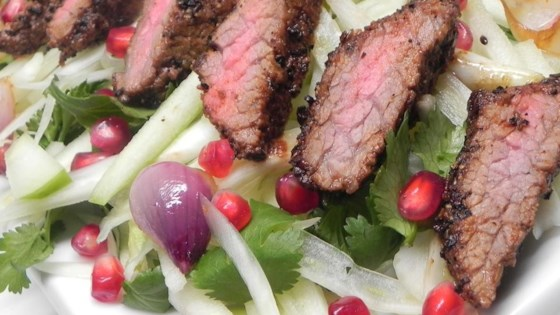 Photo of Gabe's Coffee-Crusted Hanger Steak with Apple, Fennel, and Herb Salad by Gabe Kennedy