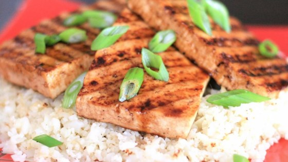 Photo of Grilled Teriyaki Tofu with Roasted Cauliflower Rice by bd.weld
