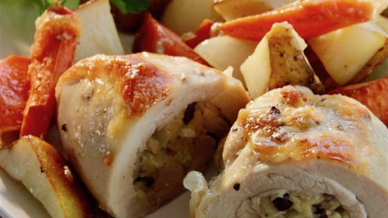 Photo of Stuffed Chicken Thighs with Roasted Potatoes and Carrots by Robin5791