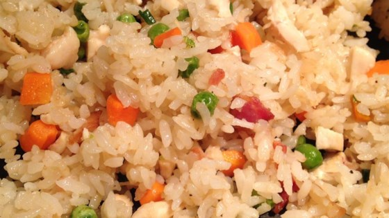 Photo of Bacon and Chicken Fried Rice by ljburrill