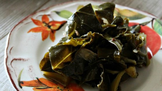 "Photo of ""Eat Them Right Out of the Pot"" Vegetarian Collard Greens by Creative Caterer"
