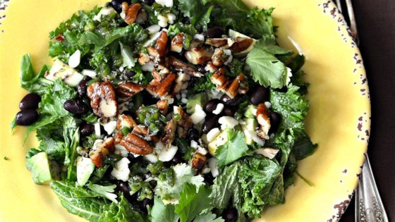 Photo of Kale, Avocado, and Black Bean Salad by KW