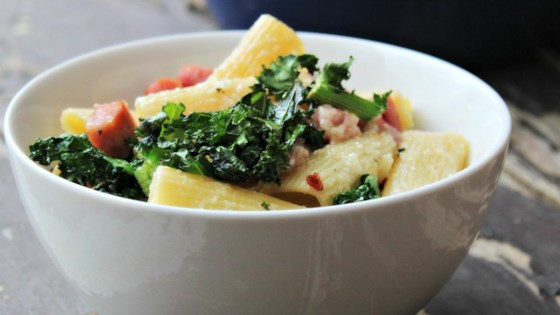 Photo of Smoky Penne and Cheese with Ham and Kale by szzn1225