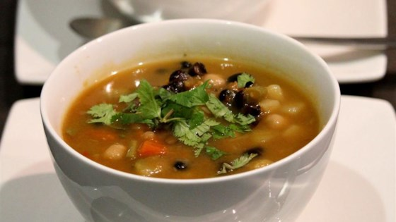 Photo of Potato, Mushroom, and Black Bean Soup by My Beloved's