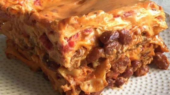Photo of Ooey Gooey Chili Mac Lasagna by Leslie Kelly