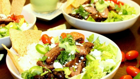 Photo of Tex-Mex Beef Bowl with Avocado Cilantro Dressing by Amanda Frederickson