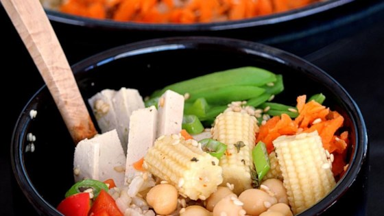 Brown rice buddha bowl recipe allrecipes photo of brown rice buddha bowl by buckwheat queen forumfinder