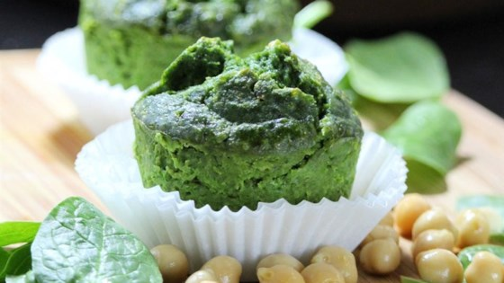 Photo of Breakfast Chickpea Spinach Muffins by Balanced Babe