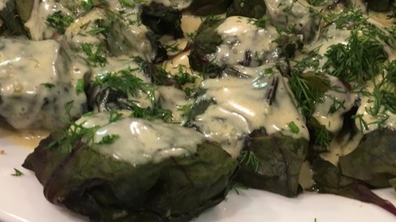 Photo of Ukrainian Beet Green Cabbage Rolls by Anne-Marie Bullis