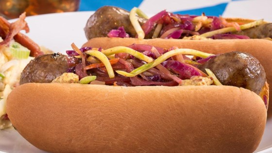 Photo of Grilled Brats with Quick-Cooked Cabbage by Ball Park Buns
