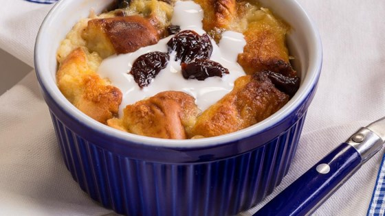 White Chocolate-Cherry Bread Pudding