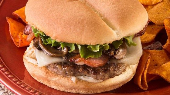 Photo of Bacon-Mushroom-Swiss Burger by Ball Park Buns