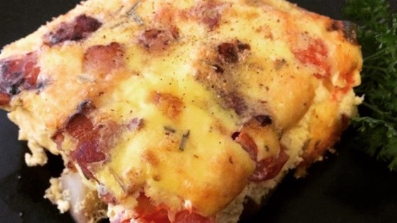 Photo of Rosemary, Bacon, and Tomato Frittata by geekoman
