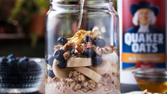 Photo of Blueberry Banana Pecan Overnight Oats by Quaker®