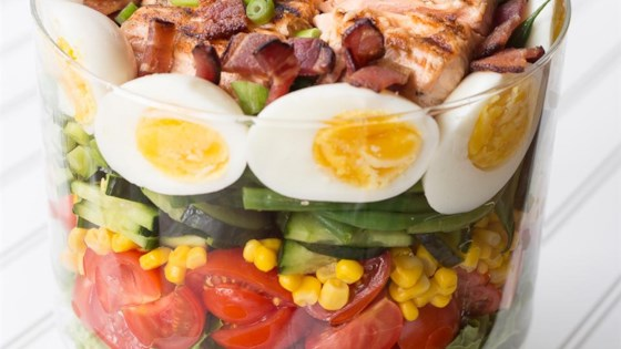 Photo of Layered Salmon Cobb Salad by Stasty Cook