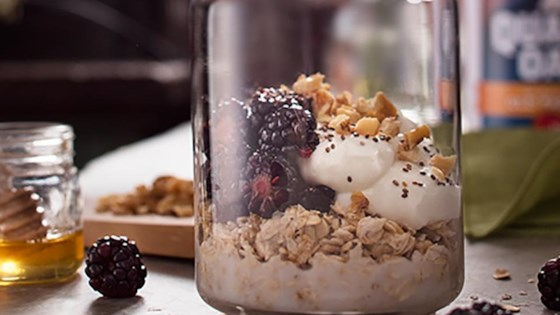 Photo of Blackberry Honey Walnut Overnight Oats by Quaker®