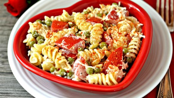 Photo of Zesty Cold Chicken Pasta Salad by Krysie