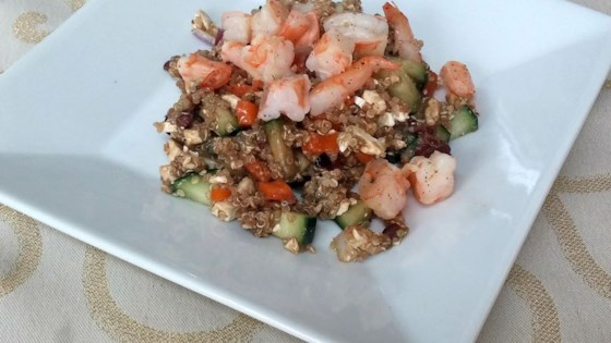 Photo of Mediterranean Quinoa Salad with Shrimp by emilyk