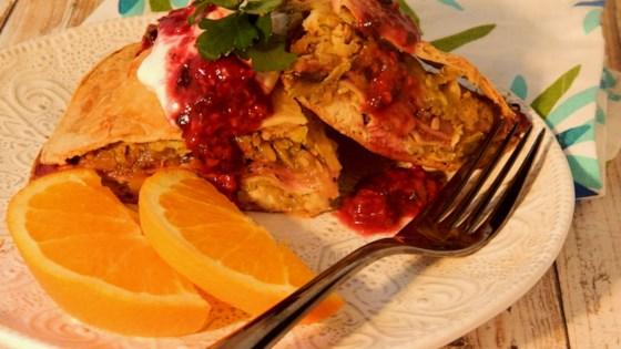 Raspberry Chicken Salsa Torte