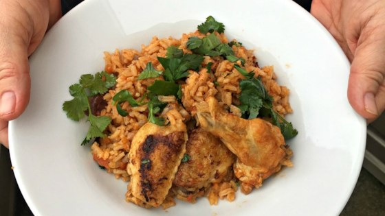 Photo of Chicken and Rice with Cumin and Cilantro by Jacques Pepin