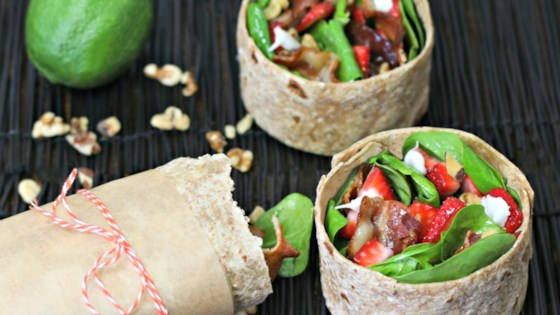 Photo of Strawberry Spinach Salad Breakfast Wrap  by Culinary Envy