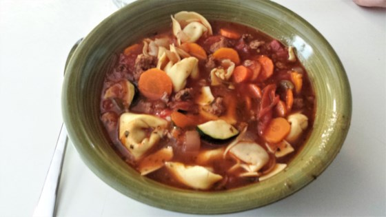 Photo of Italian Sausage Soup with Tortellini by Mary P