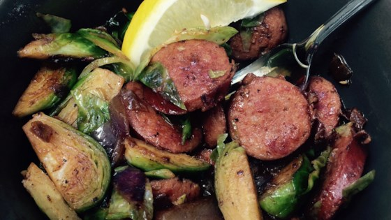 Photo of Kielbasa with Brussels Sprouts by yankeesfan