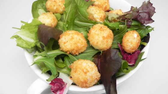 Arugula Salad with Fried Goat Cheese