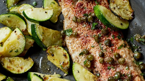 speckled trout in capers and white wine review by sallyt