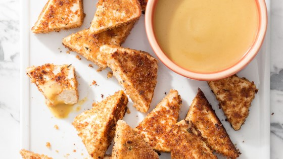 Photo of Tofu Nuggets with Maple-Mustard Dipping Sauce by isachandra